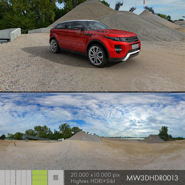 3DOcean MW3DHDR0013 Gravel Sand Plant in Germany 6405963