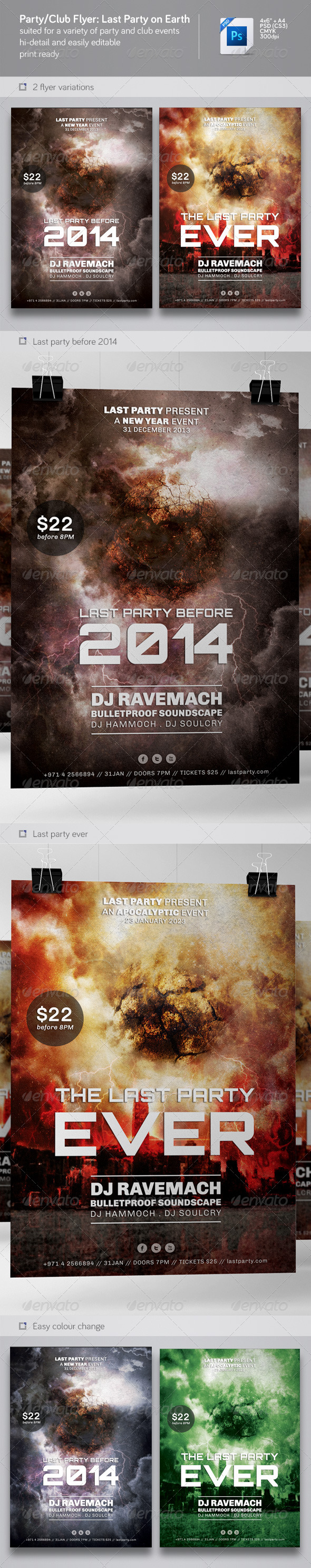 GraphicRiver Party & Nightclub Flyer Last Party 6358305