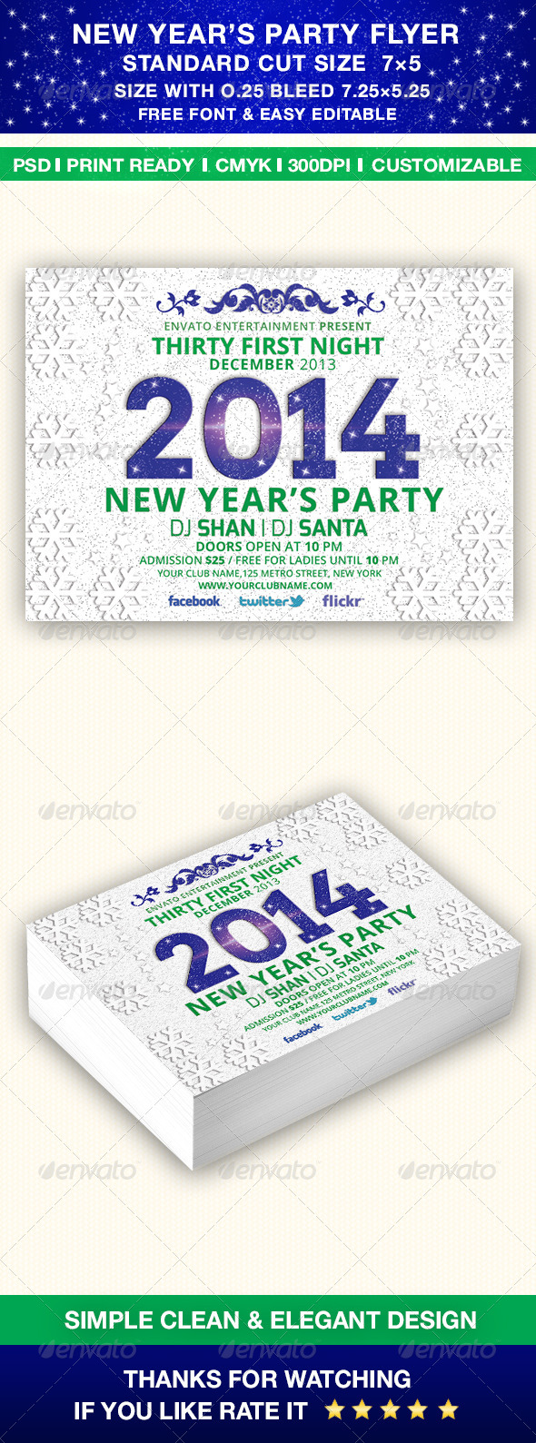 GraphicRiver New Year s 2014 Party Flyer Template 6406276