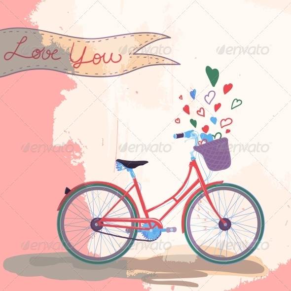 GraphicRiver Bicycle Loves You 6406310