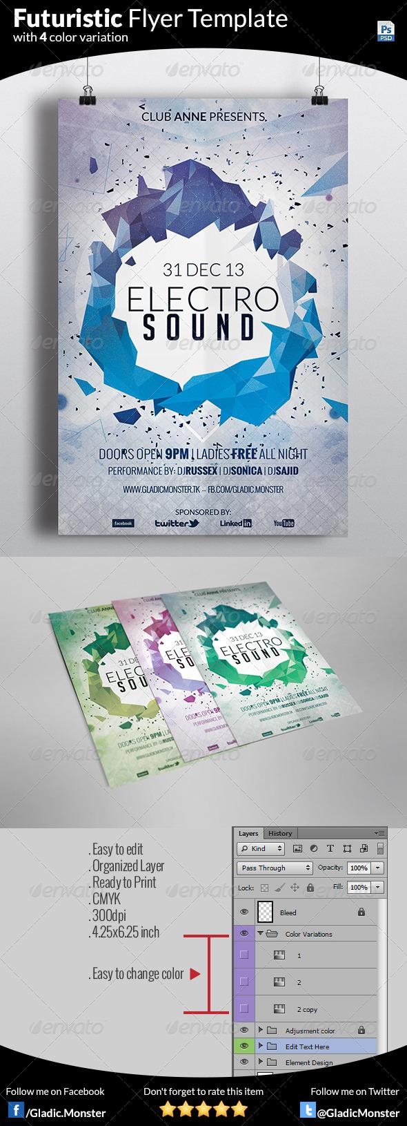 GraphicRiver Minimal Futuristic Flyer Template 6406313