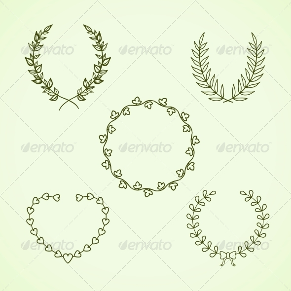 GraphicRiver Retro Calligraphic Wreath 6406322