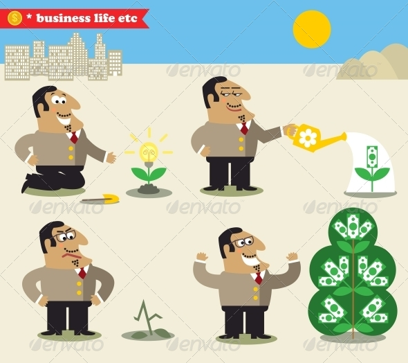 GraphicRiver Boss Watering Tree from Idea to Profit 6406374