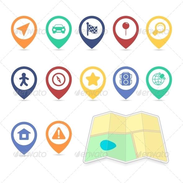 GraphicRiver Location UI Design Elements Contrast Color 6406463
