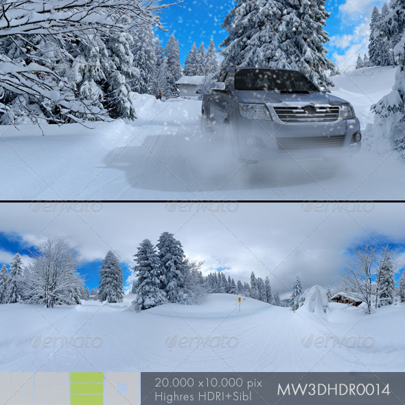MW3DHDR0014 Snow Run in Black Forest Germany - 3DOcean Item for Sale