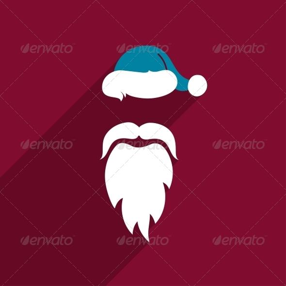 GraphicRiver Flat Design Santa Claus Face 6406947