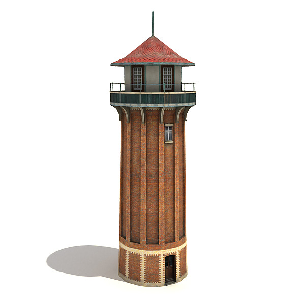 Tall Water Tower - 3DOcean Item for Sale