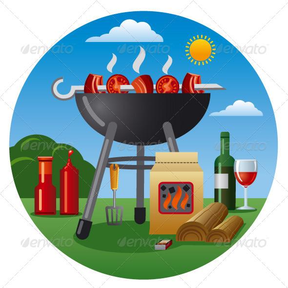 GraphicRiver Barbecue Icon 6407173