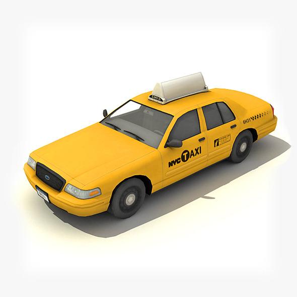 3DOcean New York Taxi Car 6407176