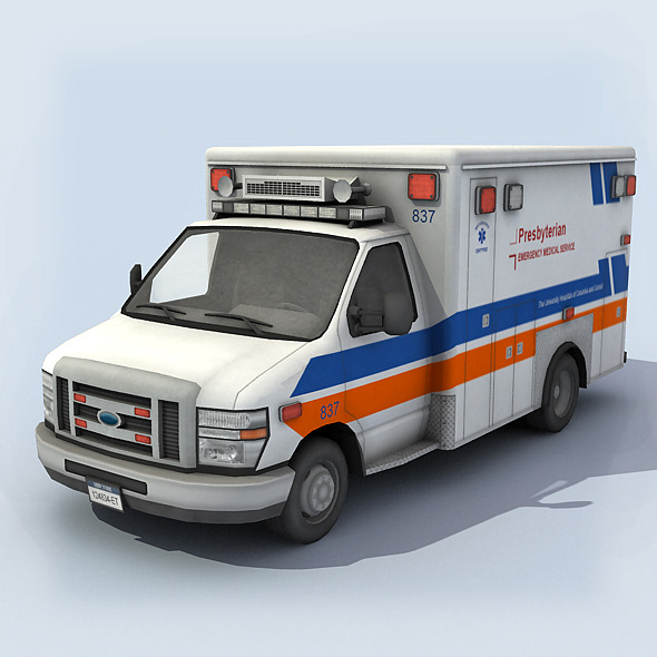 3DOcean Ambulance Vehicle 6407490