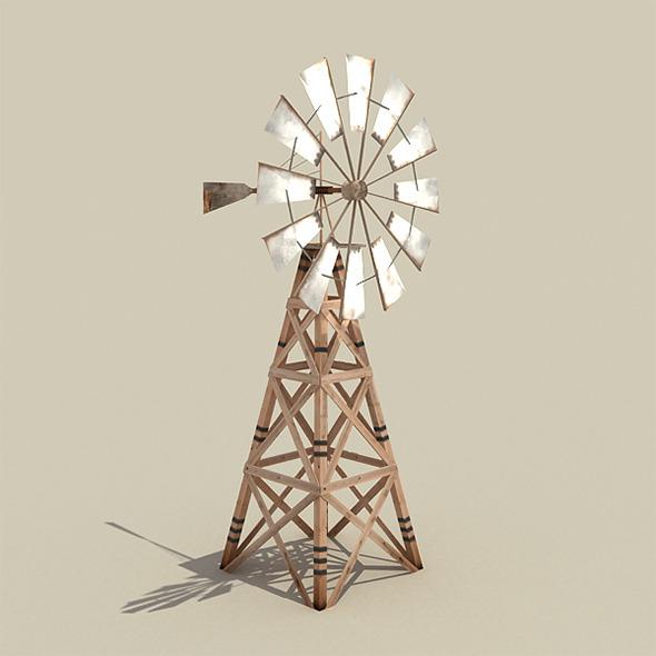3DOcean Wooden Windmill 6407511