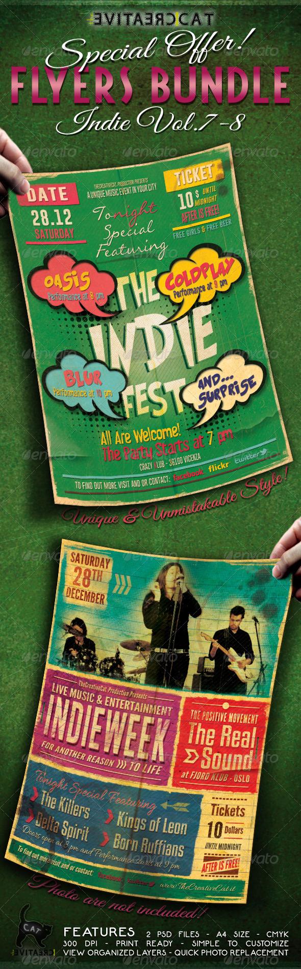 GraphicRiver Indie Flyer Poster Bundle Vol 7-8 6407513