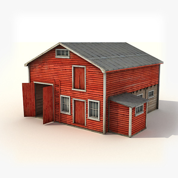 Big Wooden Warehouse - 3DOcean Item for Sale