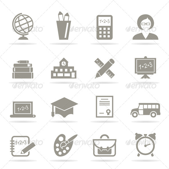 GraphicRiver School Icons 6407744