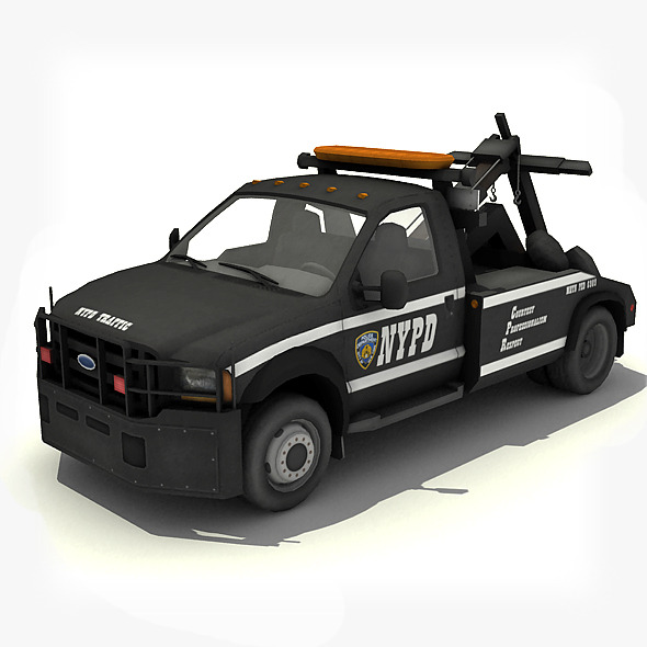NYPD Tow Truck - 3DOcean Item for Sale