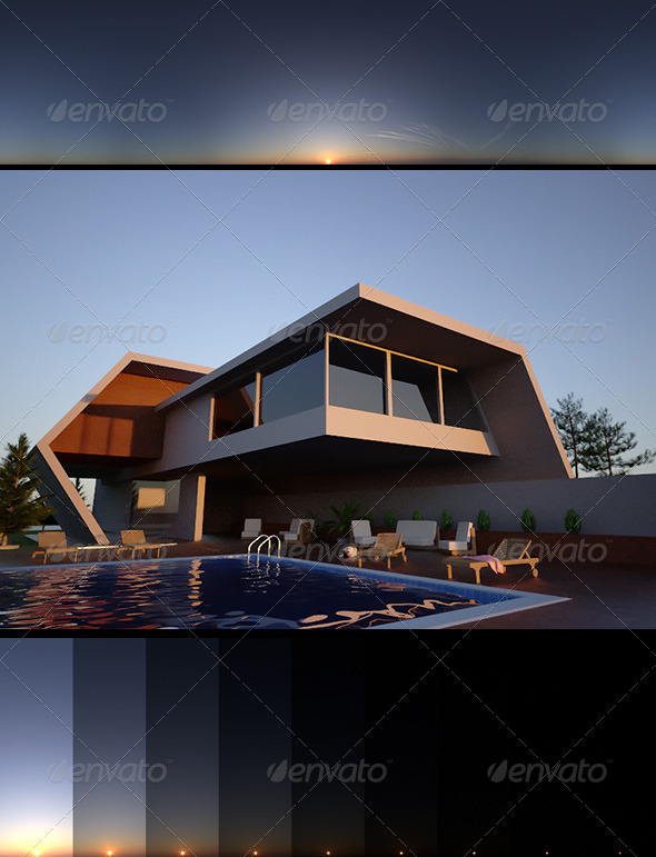 Realsky HDRI Sunset 1650 - 3DOcean Item for Sale