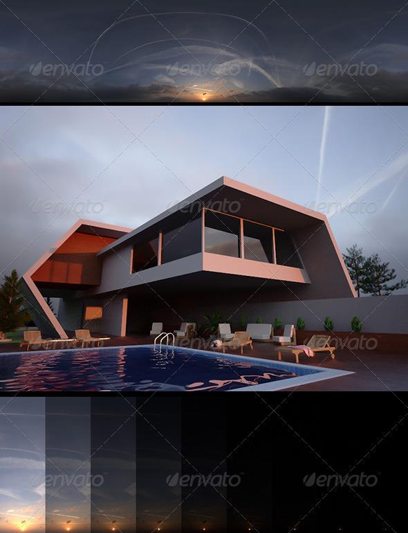 3DOcean Realsky HDRI Sunset 1645 6408149