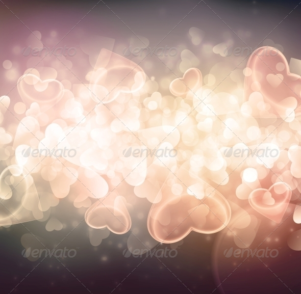 GraphicRiver Background with Hearts 6408252