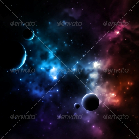 GraphicRiver Galaxy Background 6408256