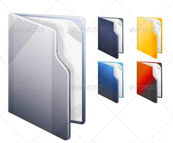 GraphicRiver Folder Icon Set Illustration 6408659