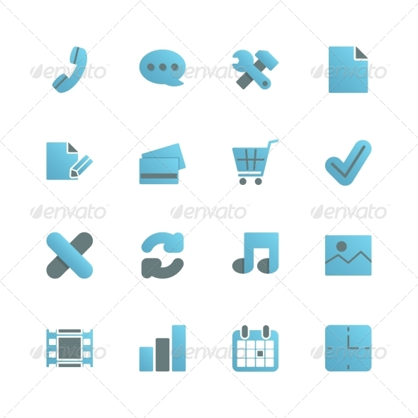 GraphicRiver Ecommerce Icons Set for Web Design 6408666