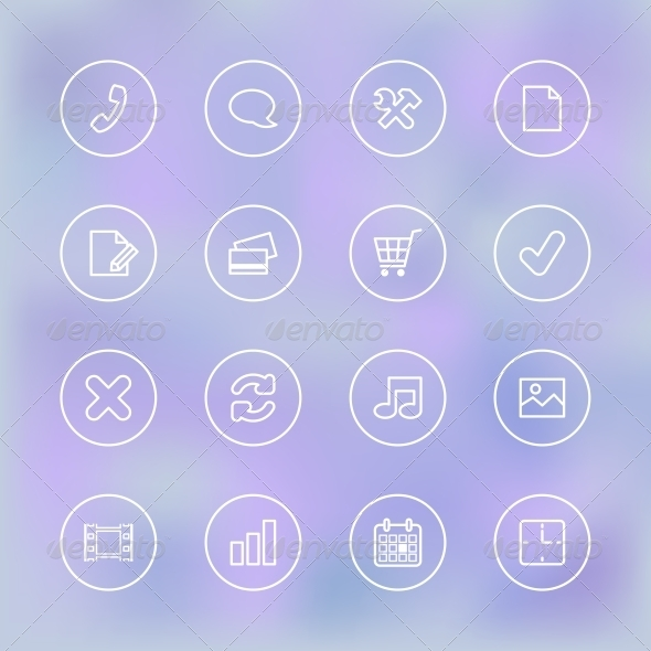 GraphicRiver Icons Set for Mobile App UI 6408703