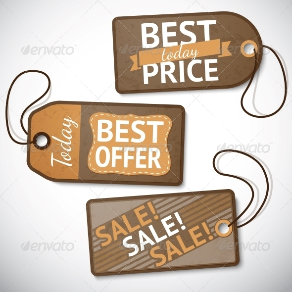 GraphicRiver Set of Retail Cardboard Sale Tags 6408886
