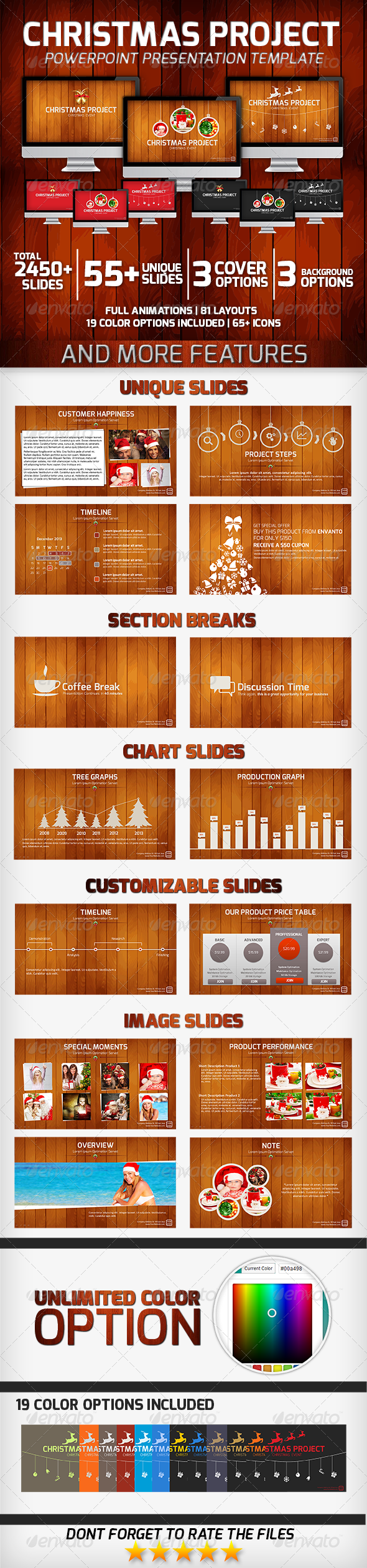 GraphicRiver Christmas Project PowerPoint Presentation Template 6385721