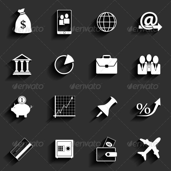 GraphicRiver Office and Business Flat Icons 6409639