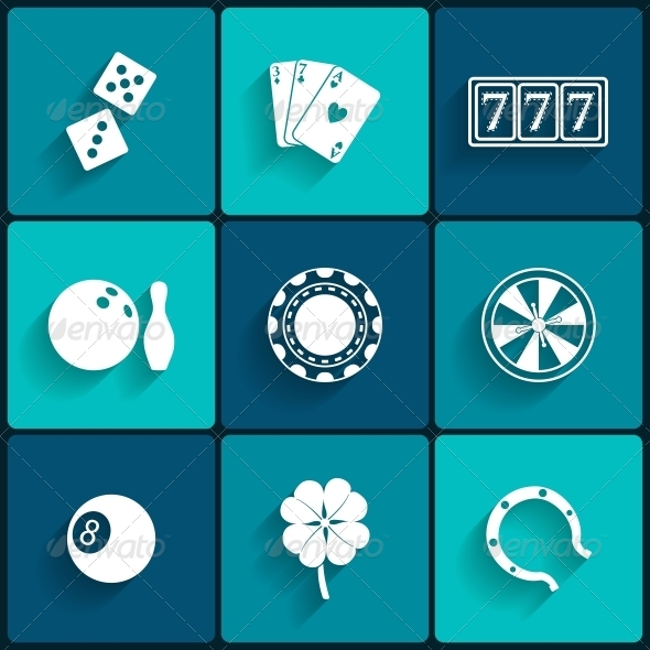 GraphicRiver Casino and Gambling Flat Icons 6409641
