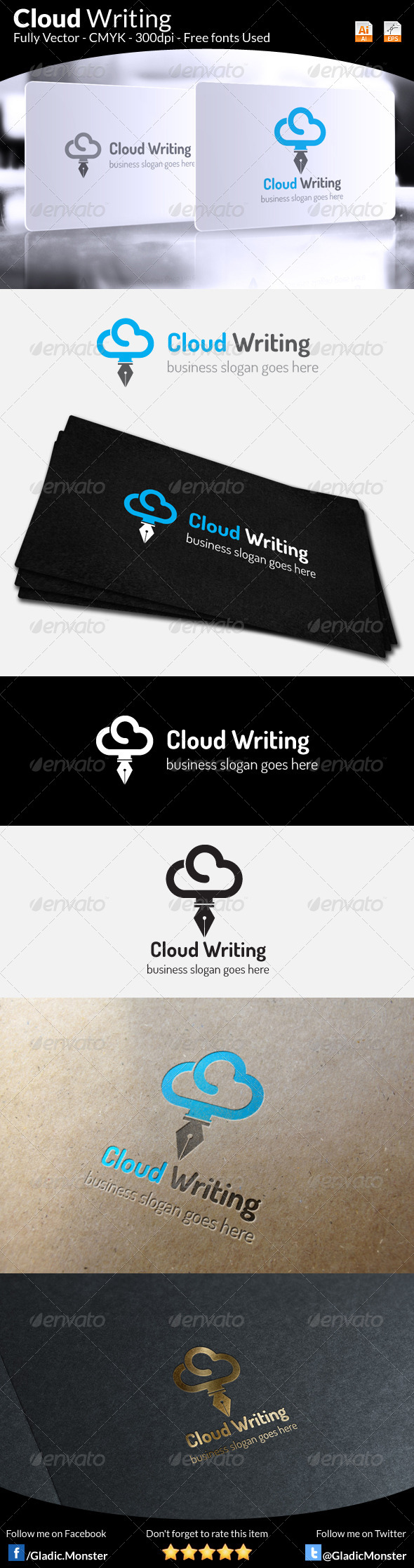 Cloud Writing Logo - Symbols Logo Templates