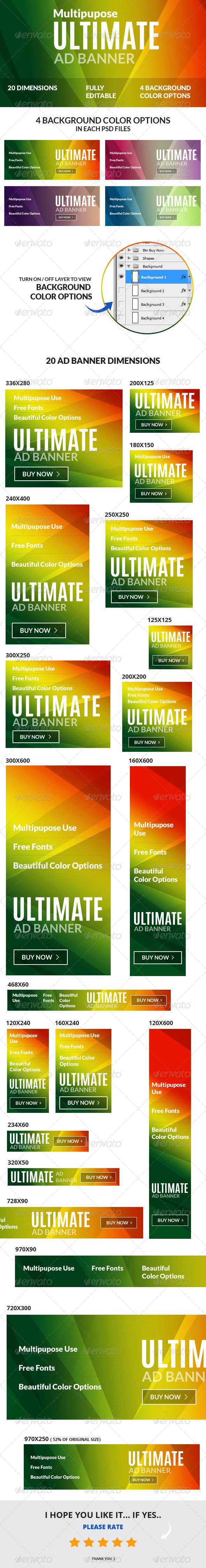 GraphicRiver Multipurpose Ultimate Web Ad Banners 6410200
