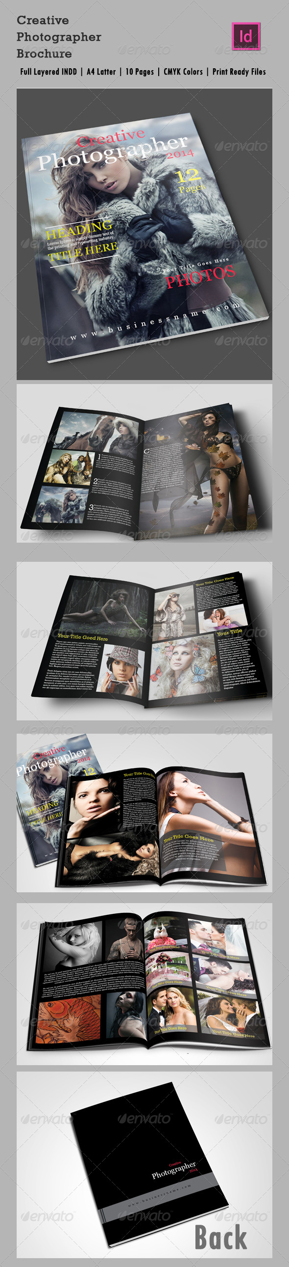 GraphicRiver 10 Page Creative Photographer InDesign Brochure A4 6410243