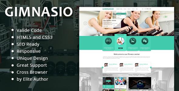 ThemeForest Gimnasio Responsive HTML Template 6410402