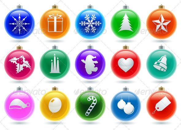 Christmas Ball Icon Collection