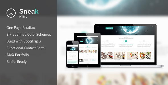 Sneak - Creative One Page HTML Template