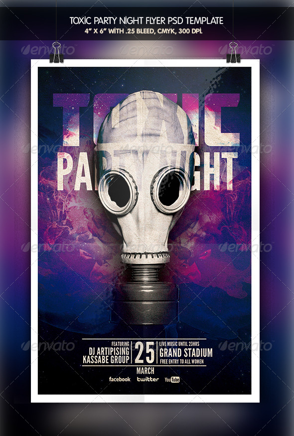 GraphicRiver Toxic Party Night Flyer 6412495