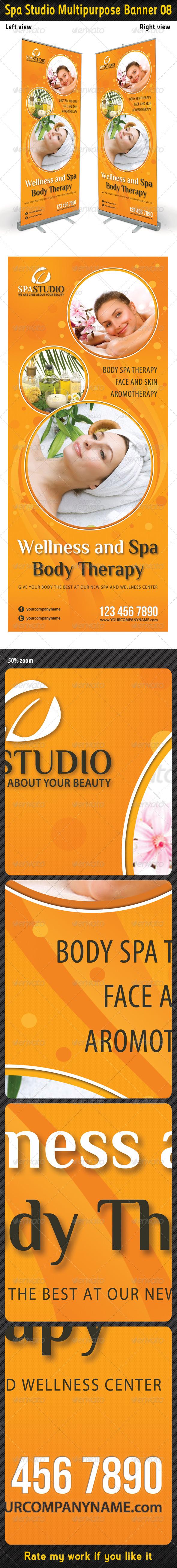 Spa Studio Multipurpose Banner 08 - Signage Print Templates
