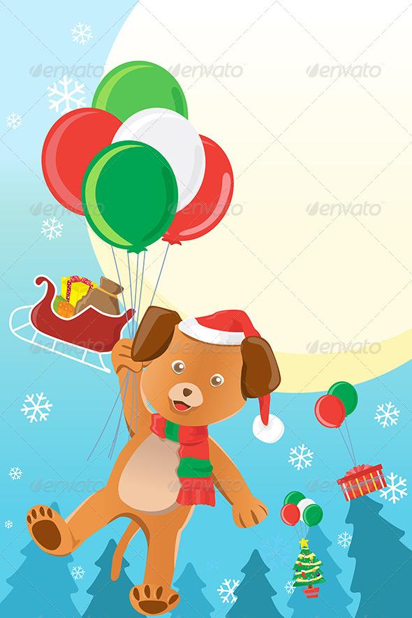 GraphicRiver Christmas Dog Design Background 6412659