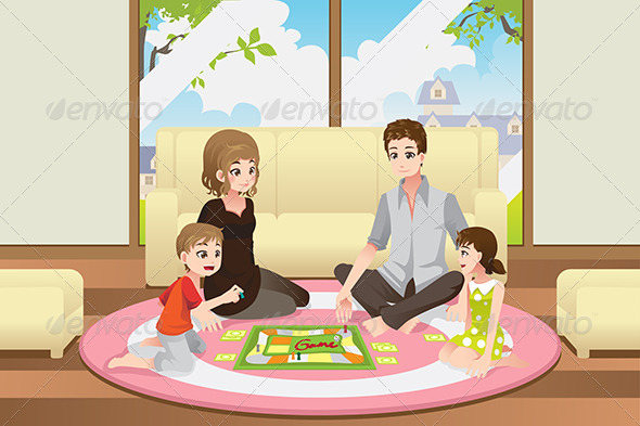 GraphicRiver Family Playing Board Game 6412680