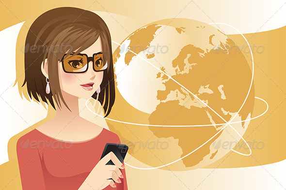 GraphicRiver Woman on the Phone 6412741