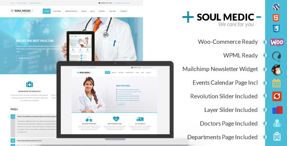 SoulMedic | Flat Responsive Medical & Health Theme