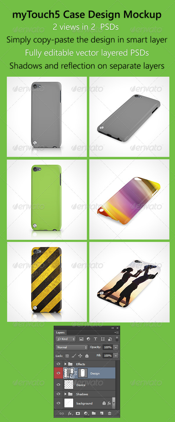GraphicRiver myTouch5 Case Design Mockup 6413138