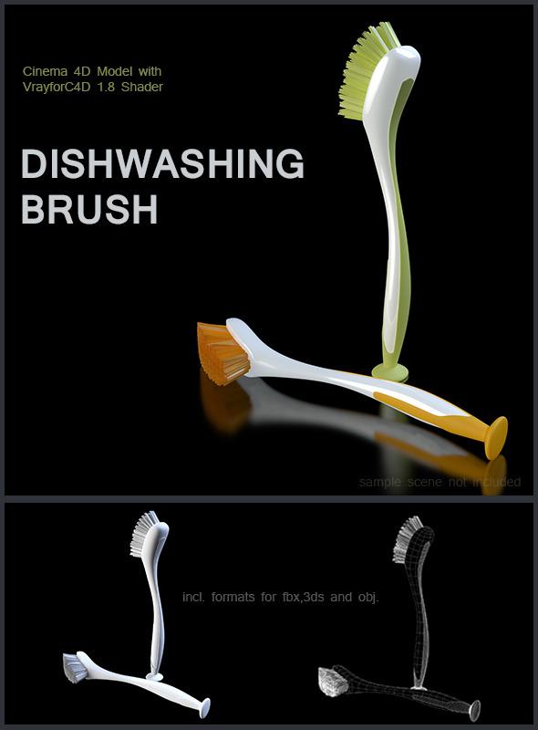 3DOcean Dishwashing Brush 6413186
