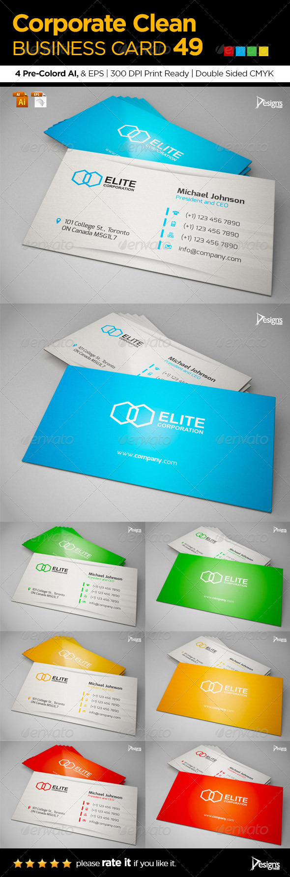 Corporate Clean Business Card 49