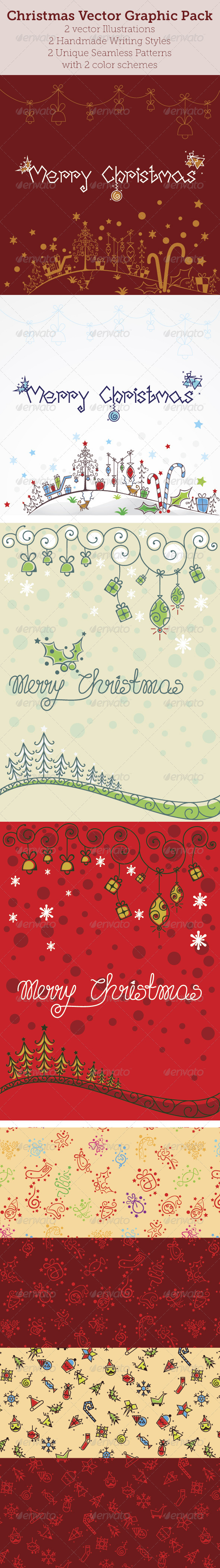 GraphicRiver Christmas Vector Graphic Pack 6391238