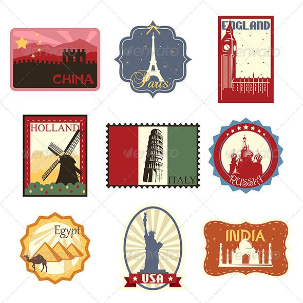 GraphicRiver Travel Labels or Badges 6413462