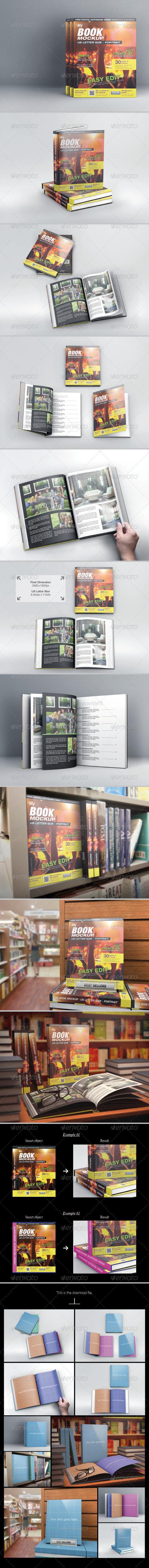GraphicRiver MyBook US Letter Size Mock-up 6395829
