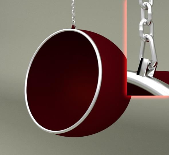 3DOcean Ball Chair With Chain 6414238