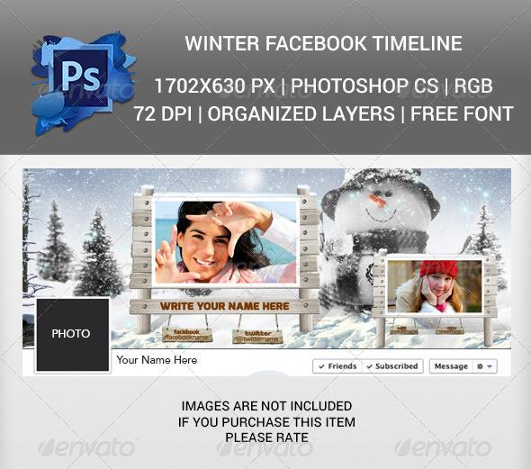 GraphicRiver Winter Facebook Timeline Cover v2 6414248